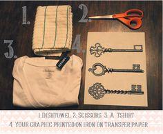DIY graphic tees!!  Love this blog!