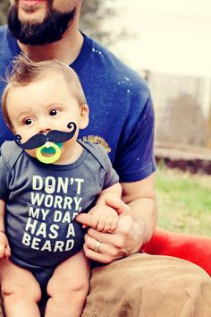 @erinnikkole For that baby brother Layla thinks is coming. Don't worry my dad has a beard onesie