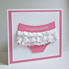 Cute baby girl card.  <3