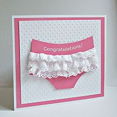 Cute baby girl card.  <3