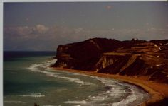 1972 picture of Agios Stefanos Beach on a windy day.