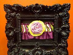 FREE SHIPPING: Designer Couture Purple, Yellow, Green Rhinestone Brooch Embellished Garter. $29.99, via Etsy.