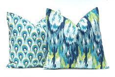 Decorative Throw Pillow Covers Turquoise by CompanyTwentySix