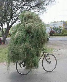 camouflage en vélo