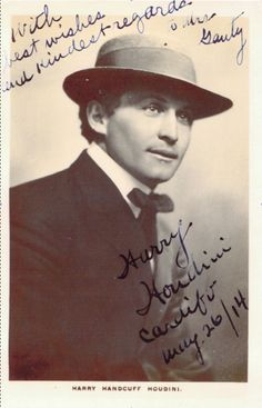 """Harry Houdini appeared in Cardiff South Wales on quite a few occasions none more memorable than his challenge to Frank Hilbert the self labelled """"Handcuff King"""" who incensed Houdini by stealing his act and appearing a few doors down the road the big """"rumpus"""" coming to a head in Cardiff's Empire Theatre."""