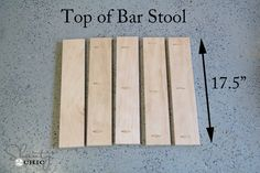 Top of Bar Stool with pocket holes