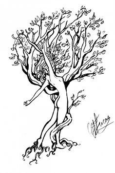 daphne as laurel tree tattoo Life Tattoos, Body Art Tattoos, Human Tree, Tattoo P, Laurel Tree, Mother Nature Tattoos, Tree Tattoo Designs, Tree Woman, Art Graphique