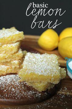 Basic Lemon Bars #Recipes