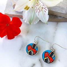 Love these sweet swallow drop earrings. These handmade wooden earrings make a great gift. Shop our selection of statement jewellery at http://www.etsy.com/shop/lovebirdaccessories