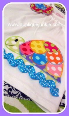 Calico Turtle Machine Applique Designs