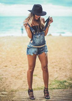 Jardineira Jeans | Vanessa Vasconcelos