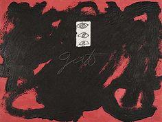 "Antoni Tàpies (geb. 1923 Barcelona) ""GAT"" Farbcarborundumradierung 1988 56,5 x 75,5 cm"