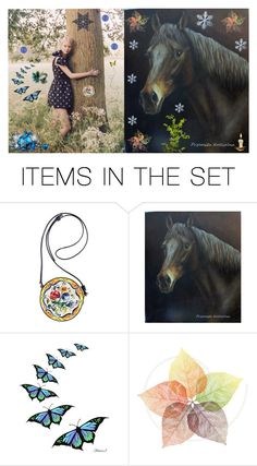 """Horse and girl"" by brooklynjadetoni ❤ liked on Polyvore featuring art"