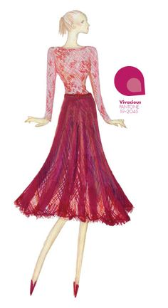 Tadashi Shoji - PANTONE Color Vivacious - Pantone Fashion Color Report, Fall 2013