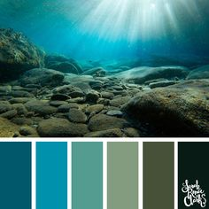Take a dive under the sea with these beautiful color combinations inspired by ocean life and Living Coral - PANTONE's 2019 Color of the Year. Paint Color Schemes, Colour Pallette, Color Schemes For Bedrooms, House Color Palettes, Sea Colour, Coral Color, Ocean Colors, Color Balance, Color Stories