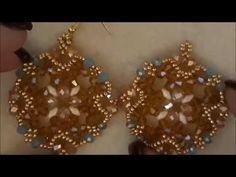 Tutorial orecchini snowflakes - YouTube