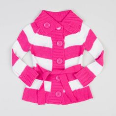 Girls Striped Button Down Sweater with Tie Belt...wish i would have it on my bday