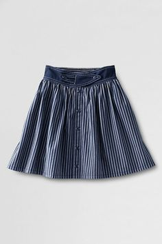 Girls' Woven Button-front Skort from Lands' End