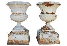 Large Victorian Urns, Pair