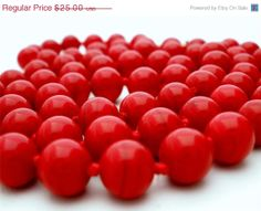 Big Sale Vintage Red Bead Monet Necklace by TheJewelryLadysStore, $20.00