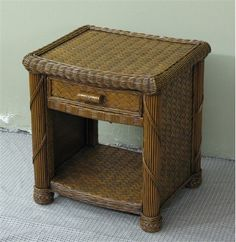Caribe Wicker Nightstand