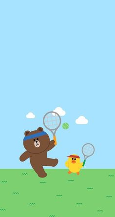 BROWN PIC is where you can find all the character GIFs, pics and free wallpapers of LINE friends. Come and meet Brown, Cony, Choco, Sally and other friends! Duck Wallpaper, Lines Wallpaper, Cool Wallpaper, Iphone Wallpaper, Nice Wallpapers, Aesthetic Wallpapers, Cony Brown, Brown Bear, Line Love