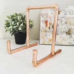 Copper pipe iPad Holder iPad Stand Cookbook by VintageTwentyNine