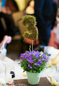 DIY moss table numbers.