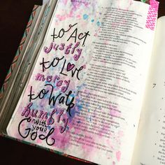 To act justly, to love mercy, and to walk humbly with our God illustrated faith bible art journaling Micah 6:8