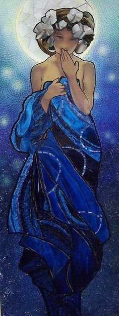 Mucha's Night Sky Mosaic by Emerald Dragon