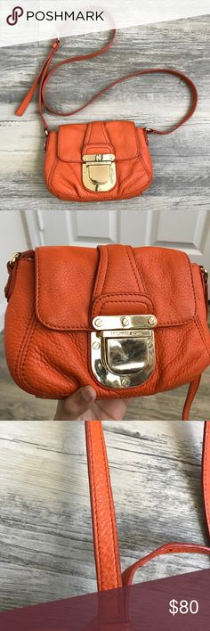 5336eaa46912 Micheal Kors Small Orange Crossbody Bag Michael Kors Small Orange Crossbody  Bag This bag is so gorgeous!!   is perfect for the minimalist person!
