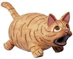 Orange Tabby Fat Cat Wood Birdhouse