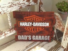 "14x22"" Harley Davidson sign. Can customize to any size with any saying. Please email AmyRice713@aol.com for pricing, orders and shipping."