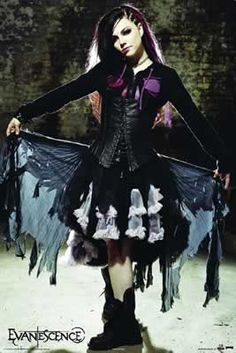 Perfect! tattered layers, blacks purples, heavy boots