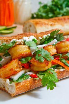 Shrimp Bahn Mi Sandwich