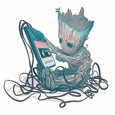 Marvel Universe Guardians of the Galaxy Baby Groot. Marvel Art, Marvel Dc Comics, Marvel Heroes, Marvel Movies, Marvel Avengers, Captain Marvel, Deadpool X Spiderman, Deadpool Movie, Batman