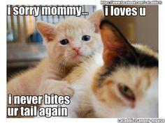 I sorry mommy...