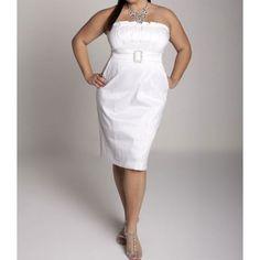 short plus size wedding dress