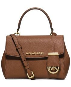 7e8417dcf2273 Shop for Michael Kors Ava Mini Luggage Brown Leather Crossbody Handbag.