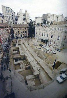 Plaza romea muralla años 90 del s. xx