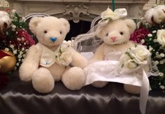 Wedding polar teddy bear!