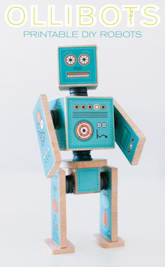 Ollibots | Print + Make Robots from Caravan Shoppe