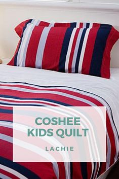SOFT STRIPES, BOLD COLORS AND VIBRANT SHADES ARE THE FEATURES OF THESE BEAUTIFUL SOFT PERCALE COTTON 400 THREAD COUNT COSHEE® SMART BEDDING SETS.  With our Coshee® smart bedding, helping your child learn how to make a bed will now be easy. With our clip on top sheet there is no messy tangled sheets or loose covers at night just a safe stylish looking bed every time.   Linen Bedding, Bedding Sets, King Single Bed, Teen Bedrooms, Simple Bed, Quilt Cover Sets, How To Make Bed, Green Stripes, Bed Covers