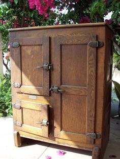 ice box | 1919 Antique 3Door ICE BOX Wood by SouthernCalifornia on Etsy