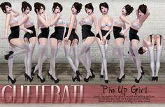 GLITTERATI - Pin up girl
