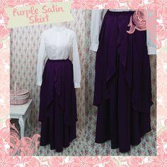 Handmade Satin Skirt made from Satin velvet #handmade #satin #skirt #fashion