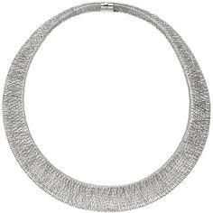 Collier Statement Halskette 585 Gold Weißgold 42 cm Kette Goldkette