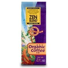 Organic Coffee Zen Blend Coffee (12x2Oz)