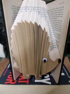 Book Folding Pattern - Hedgehog - 243 Folds - Instant Download
