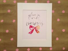 When in Doubt Overdress. Watercolor by caitlinmconway, $22.00